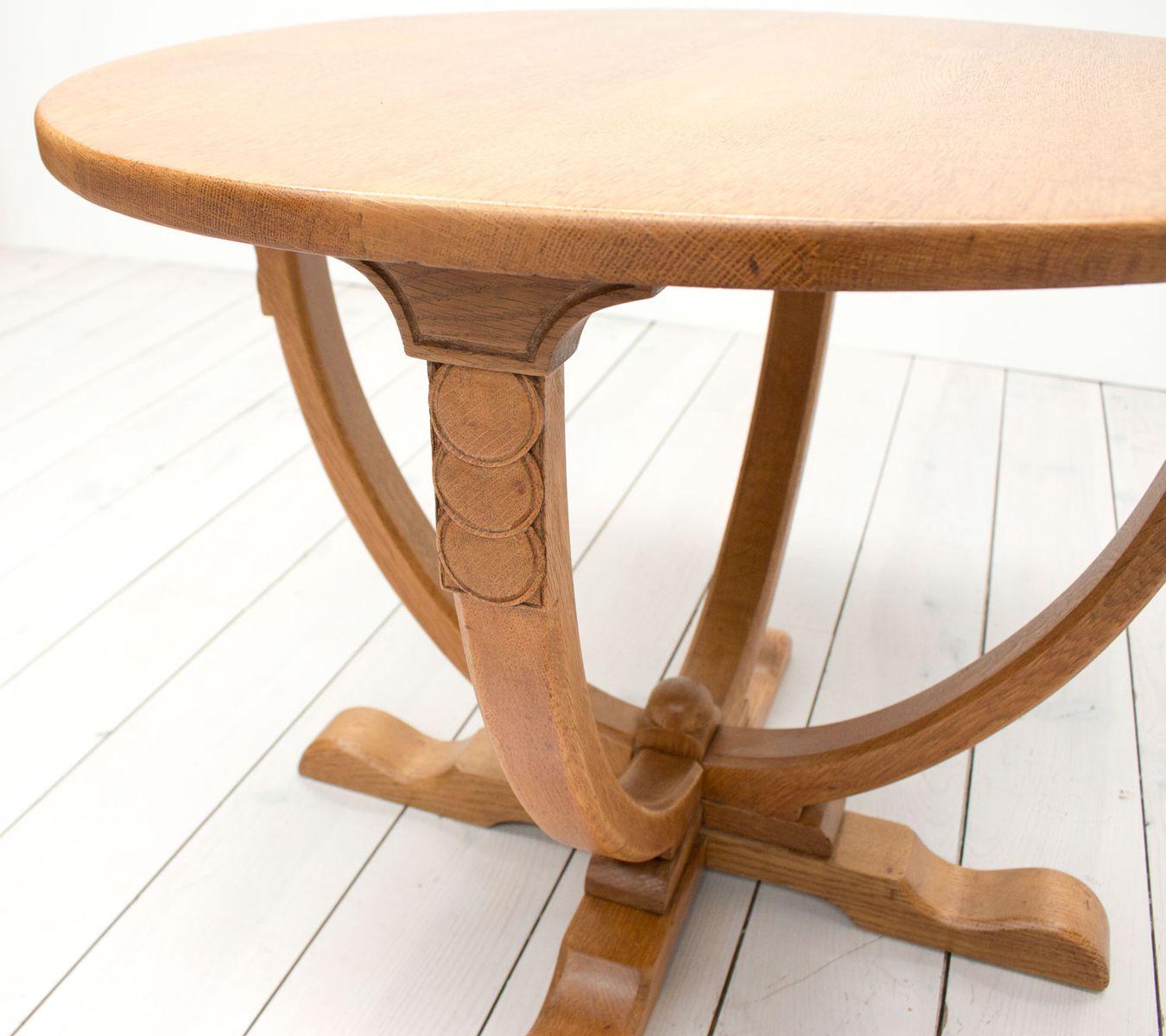 englischer eichenholz vintage art deco beistelltisch bei. Black Bedroom Furniture Sets. Home Design Ideas