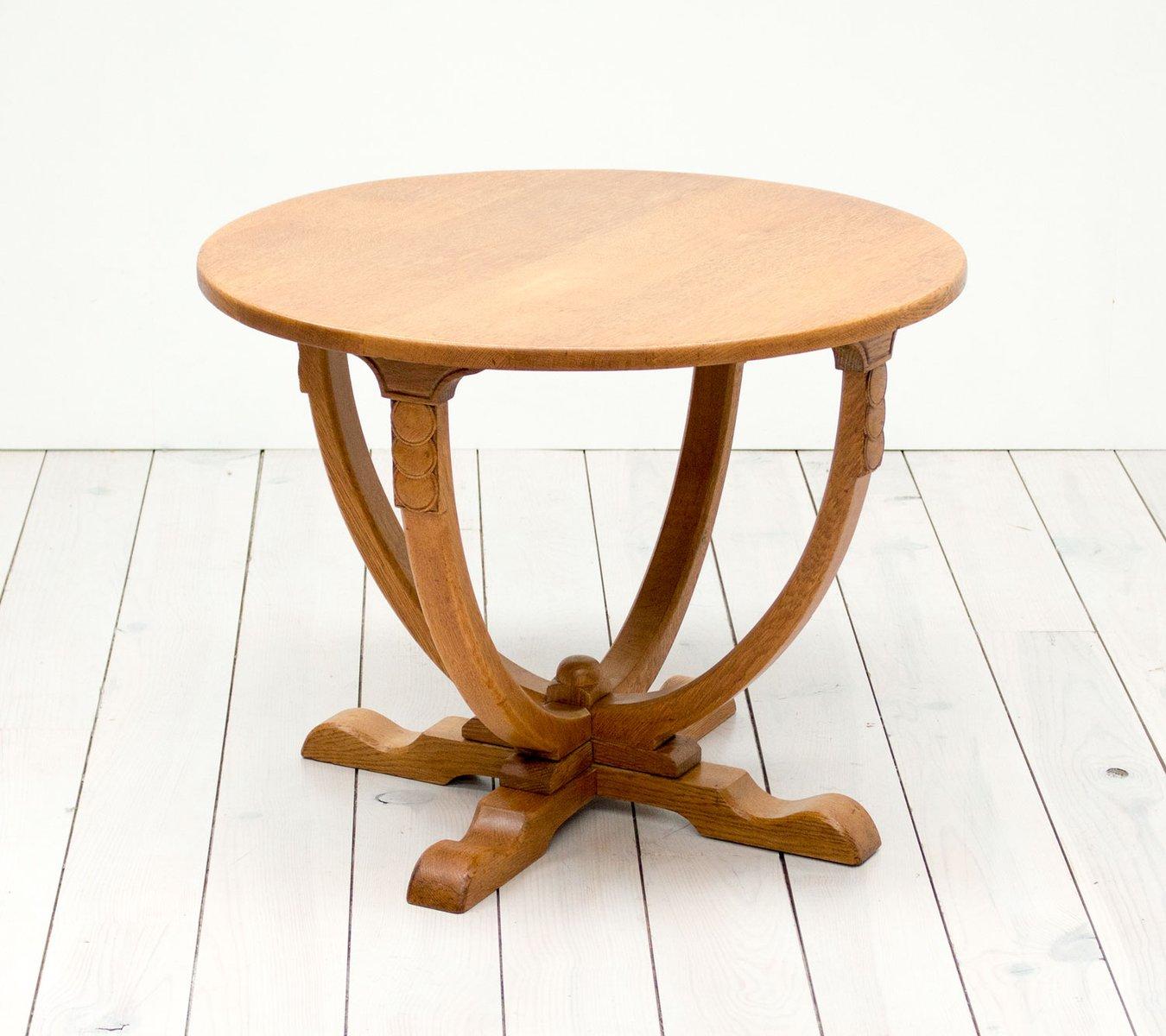 Englischer eichenholz vintage art deco beistelltisch bei for Beistelltisch englisch