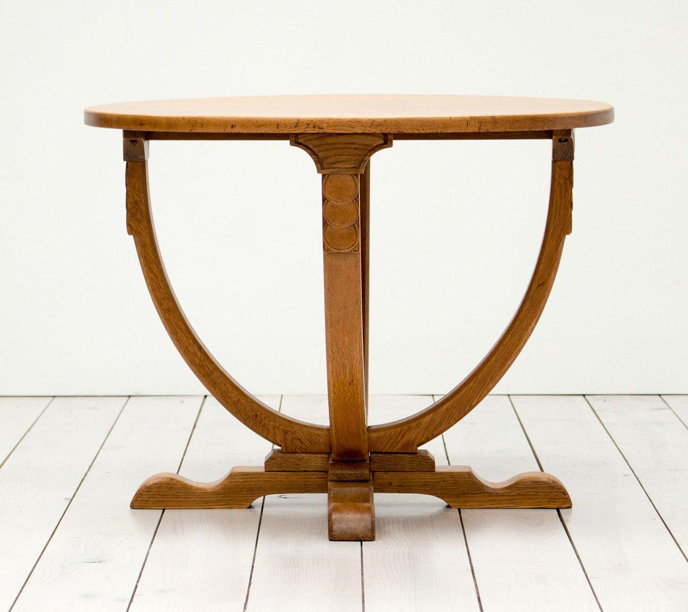 Vintage english art deco oak side table for sale at pamono vintage english art deco oak side table geotapseo Images