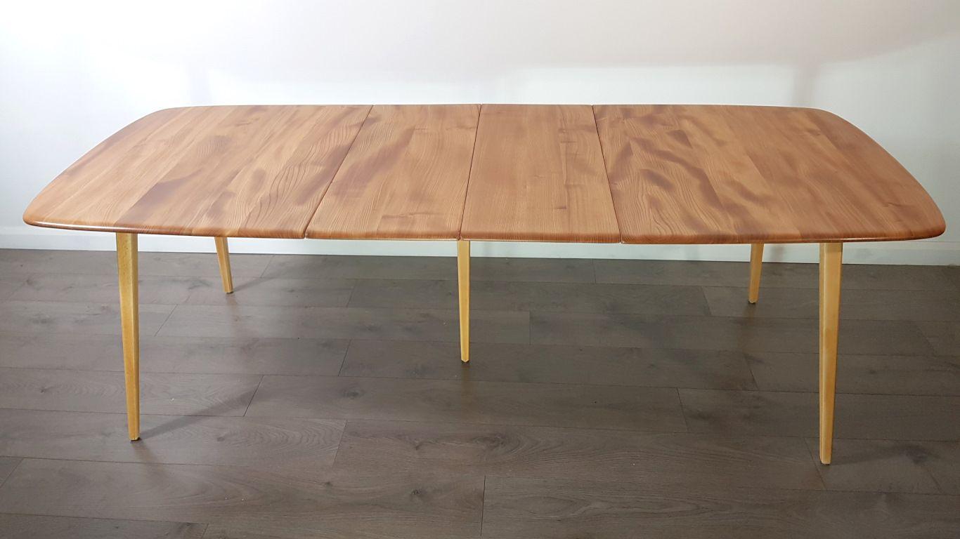 ausziehbarer vintage ulmenholz esstisch von lucian ercolani f r ercol bei pamono kaufen. Black Bedroom Furniture Sets. Home Design Ideas