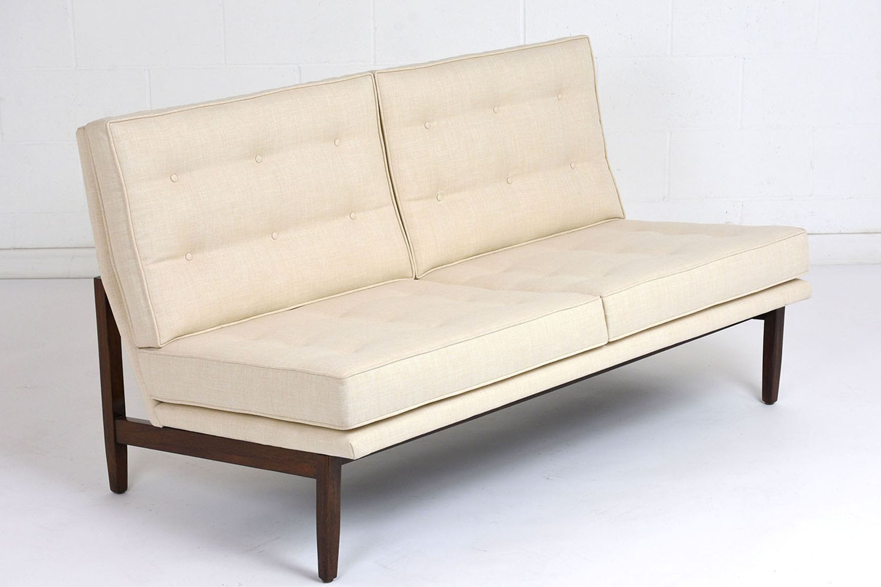 Mid Century Teak Sofa by Florence Knoll Bassett 1960s for sale at