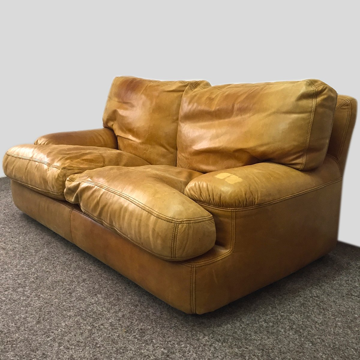 Leather Sofa Wholesalers Uk: Leather Sofa With Feather Upholstery, 1970s For Sale At Pamono
