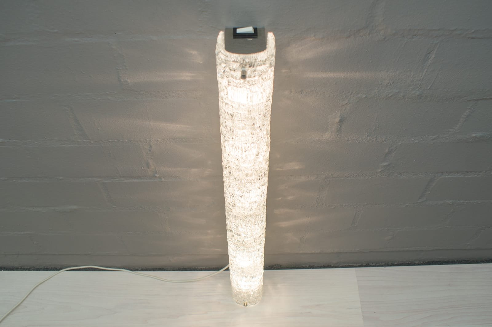Lampade da parete grandi con bolle in vetro di Murano e placcate in cromo di Hillebrand, anni ...