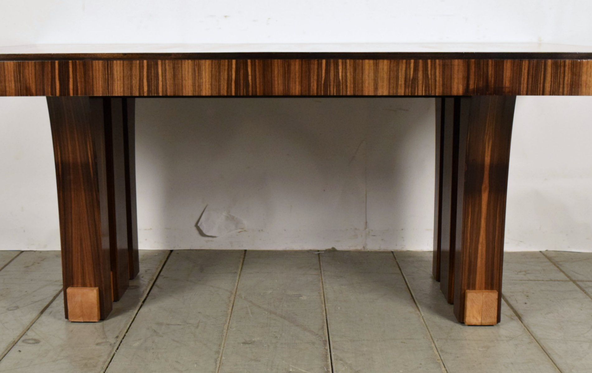 french macassar wood dining table 1940s for sale at pamono