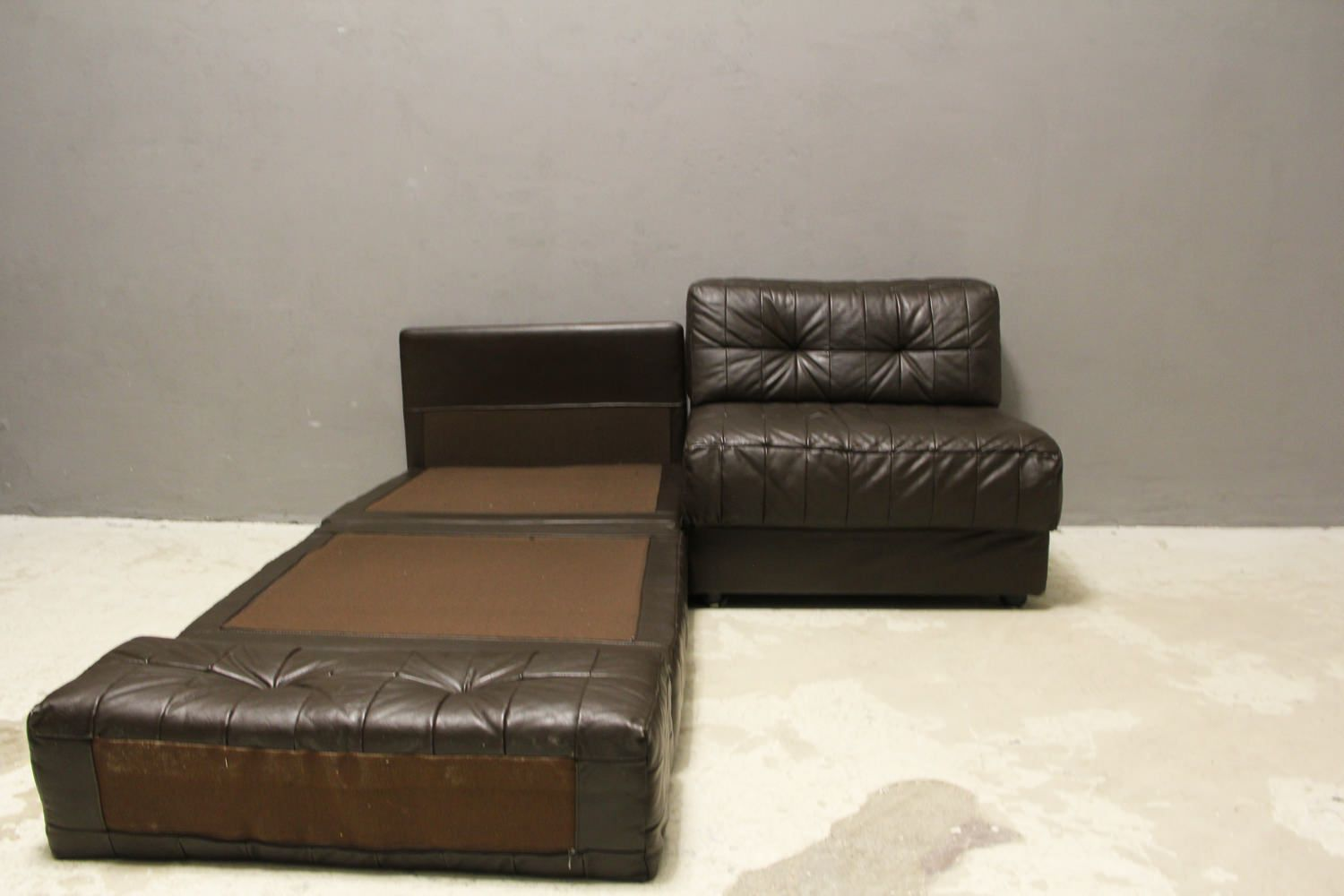 vintage patchwork sofaelemente 1970er 2er set bei pamono kaufen. Black Bedroom Furniture Sets. Home Design Ideas