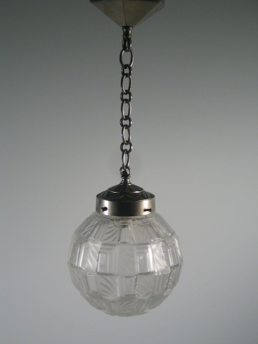 geometirsche art deco glaskugel h ngelampe bei pamono kaufen. Black Bedroom Furniture Sets. Home Design Ideas