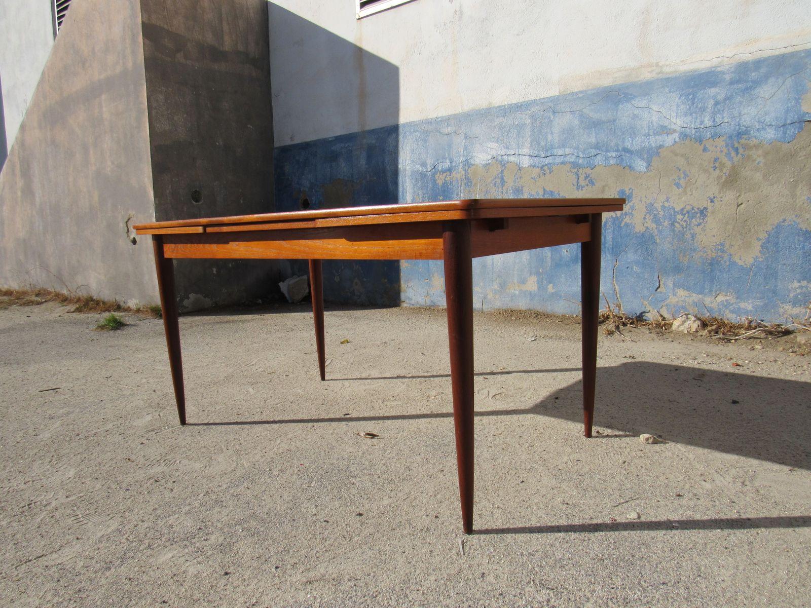 Table de salle manger mid century 1960s en vente sur pamono for Salle a manger annee 1960
