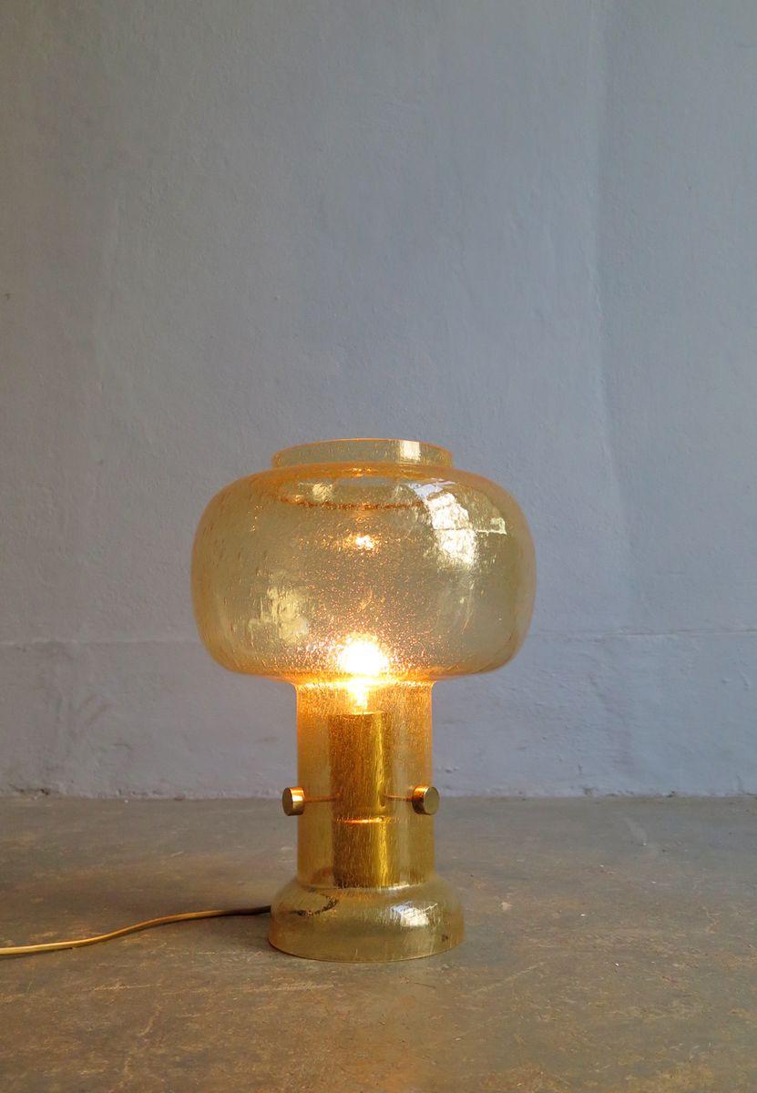 Golden Bubble Glass Table Lamp