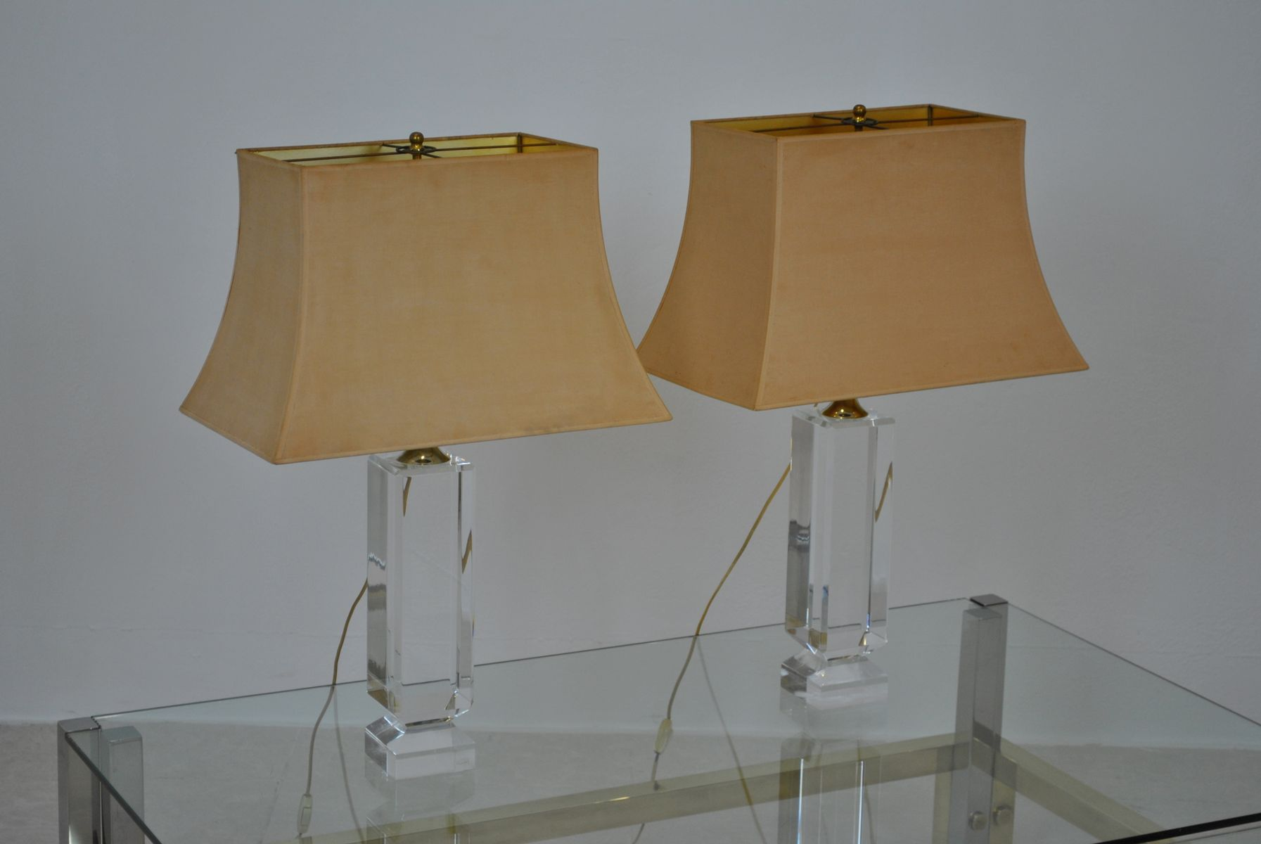 Lucite table lamps by renato zevi 1970s set of 2 for sale at pamono previous geotapseo Images