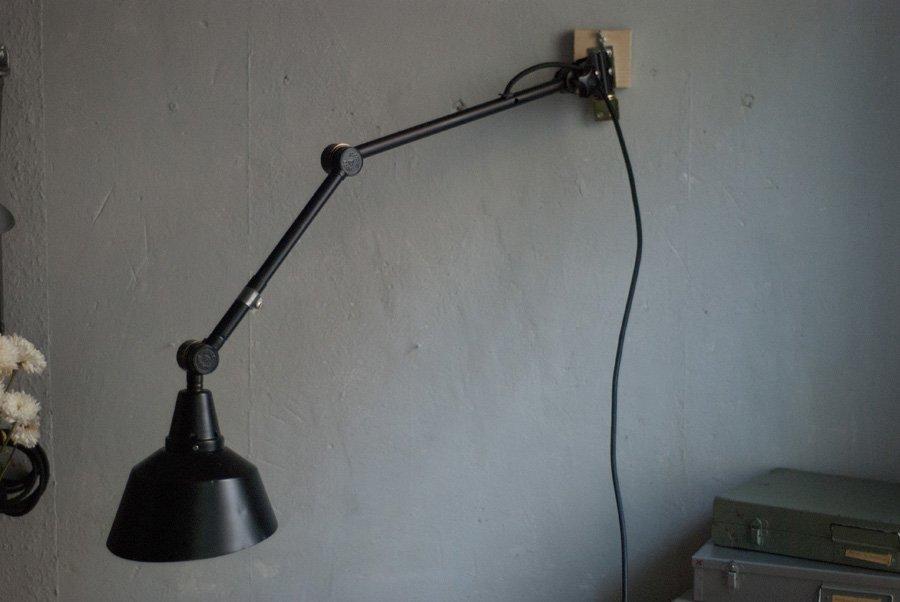 schwarz lackierte vintage lampe aus metall von curt fischer f r midgard bei pamono kaufen. Black Bedroom Furniture Sets. Home Design Ideas