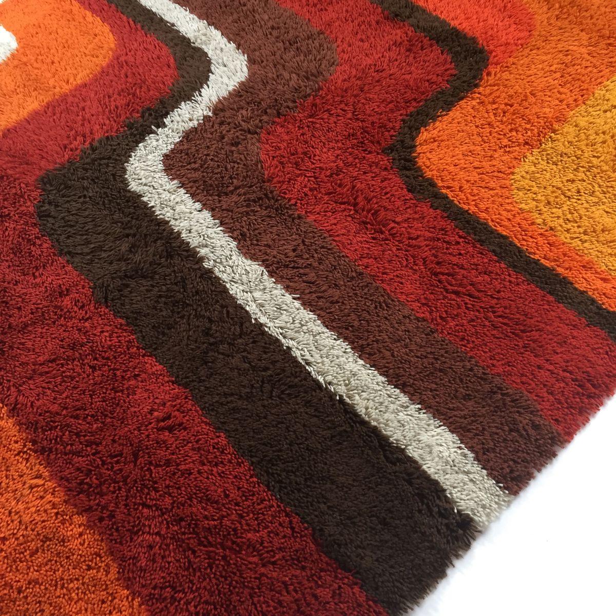 bunter vintage teppich von desso bei pamono kaufen. Black Bedroom Furniture Sets. Home Design Ideas