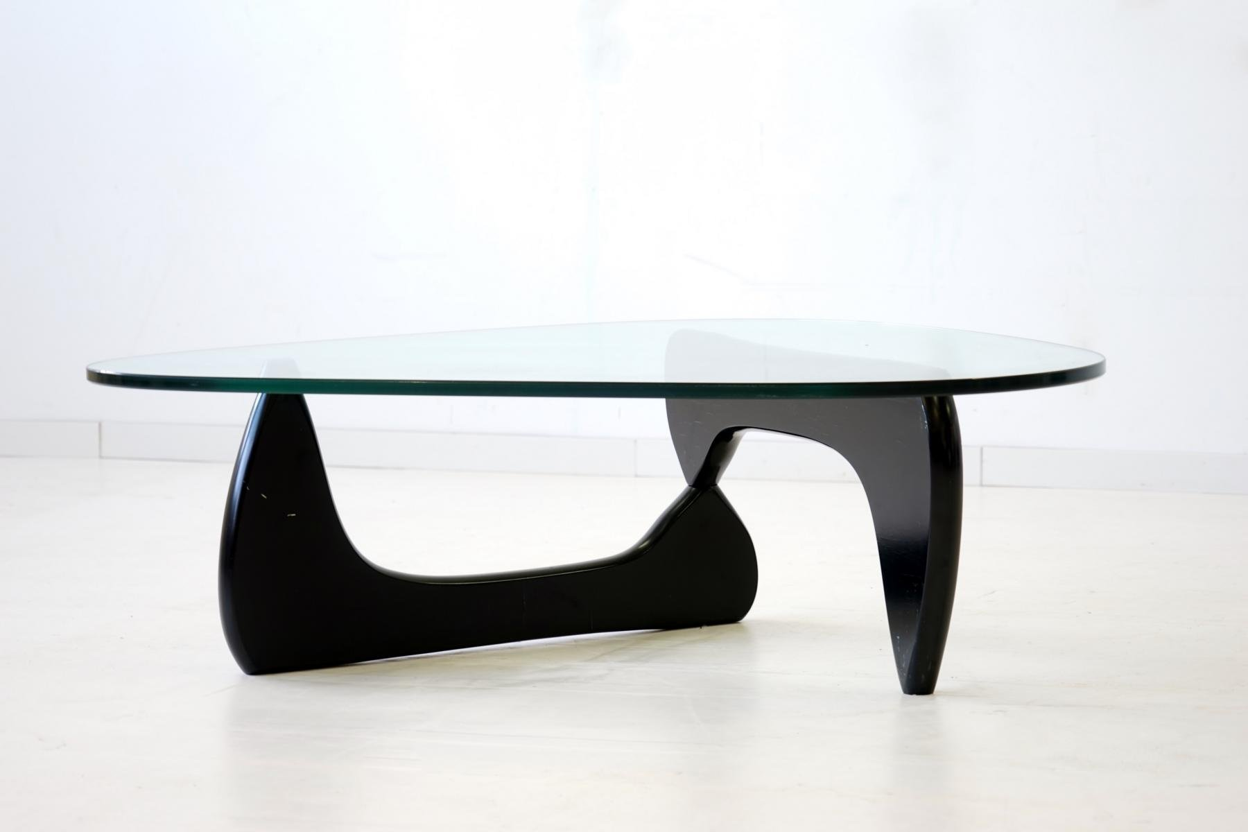 glass coffee table by isamu noguchi for herman miller 1960s for sale at pamono. Black Bedroom Furniture Sets. Home Design Ideas