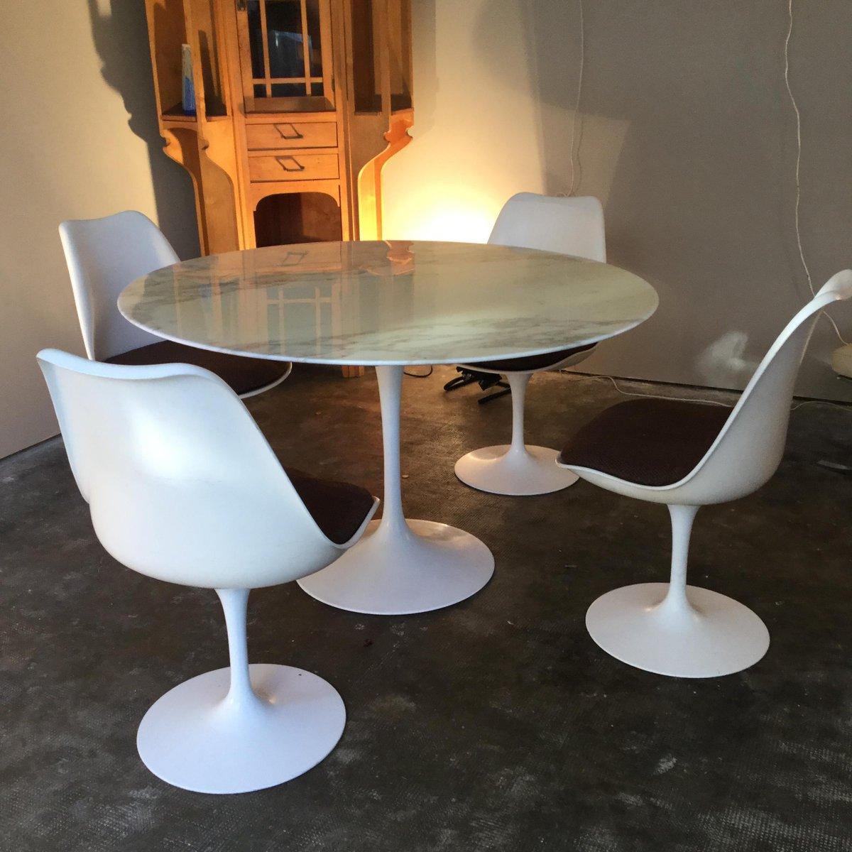 vintage tisch von eero saarinen f r knoll bei pamono kaufen. Black Bedroom Furniture Sets. Home Design Ideas
