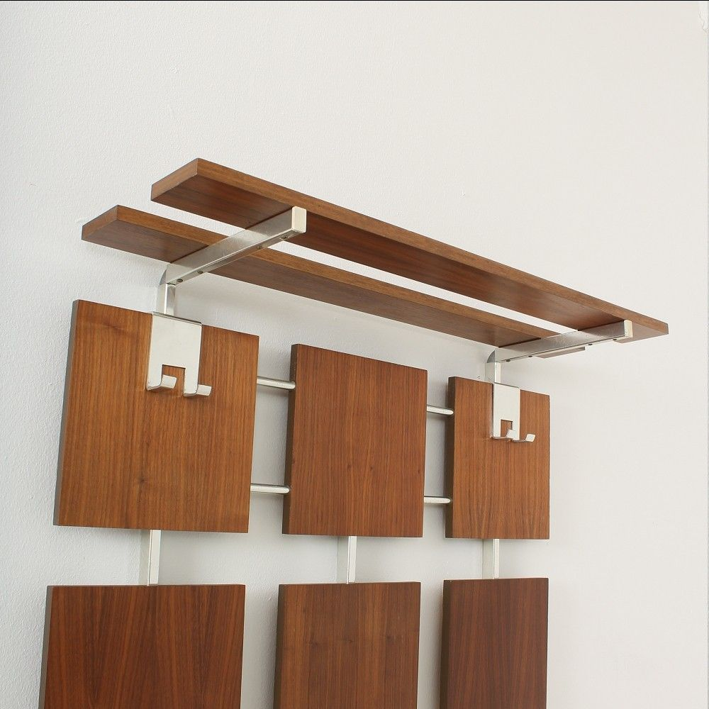 mid century teak garderobe 1960er bei pamono kaufen. Black Bedroom Furniture Sets. Home Design Ideas
