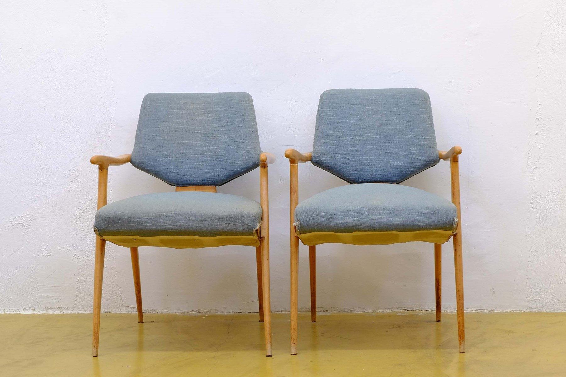 italienische mid century ahorn sessel 2er set bei pamono. Black Bedroom Furniture Sets. Home Design Ideas