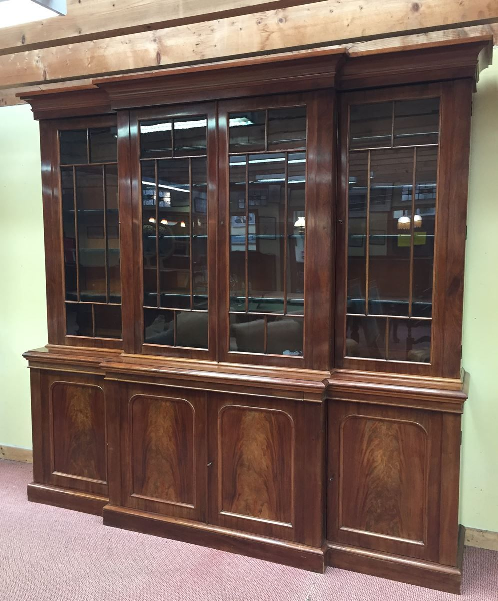 Victorian Antique Display Cabinet in Mahogany for sale at Pamono