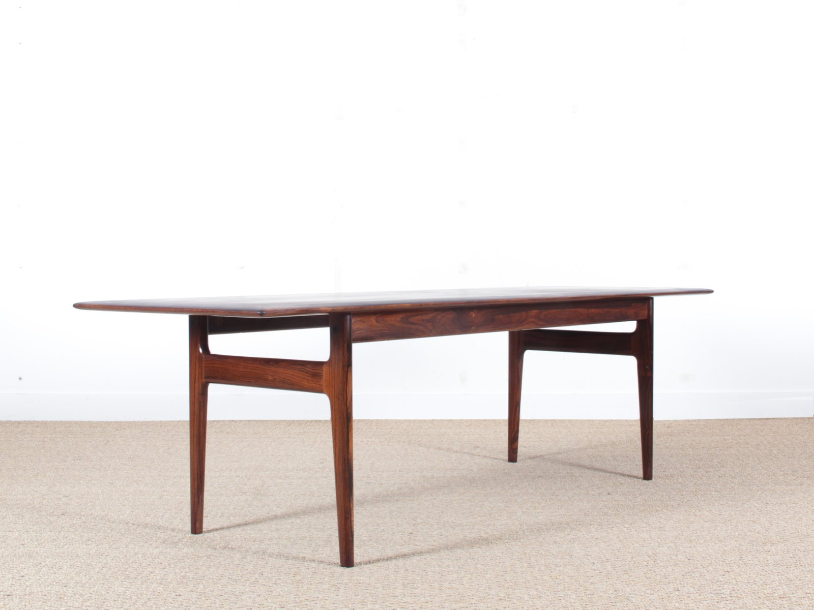 mid century modern scandinavian coffee table in rio rosewood from cfc silkeborg 1960s for sale. Black Bedroom Furniture Sets. Home Design Ideas