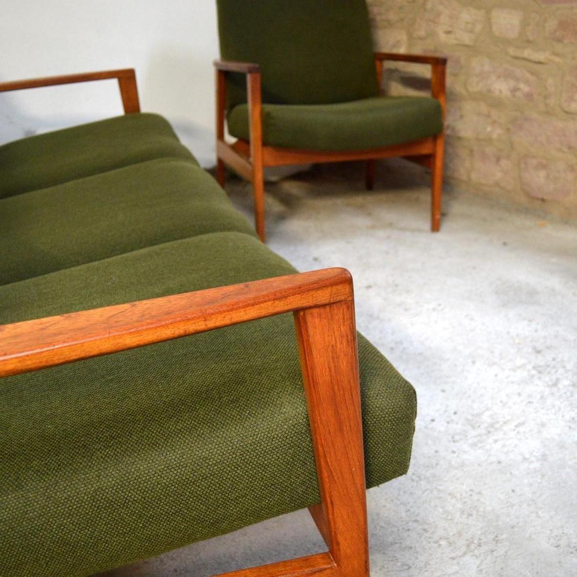 mobilier de salon vintag en teck scandinavie en vente sur pamono. Black Bedroom Furniture Sets. Home Design Ideas