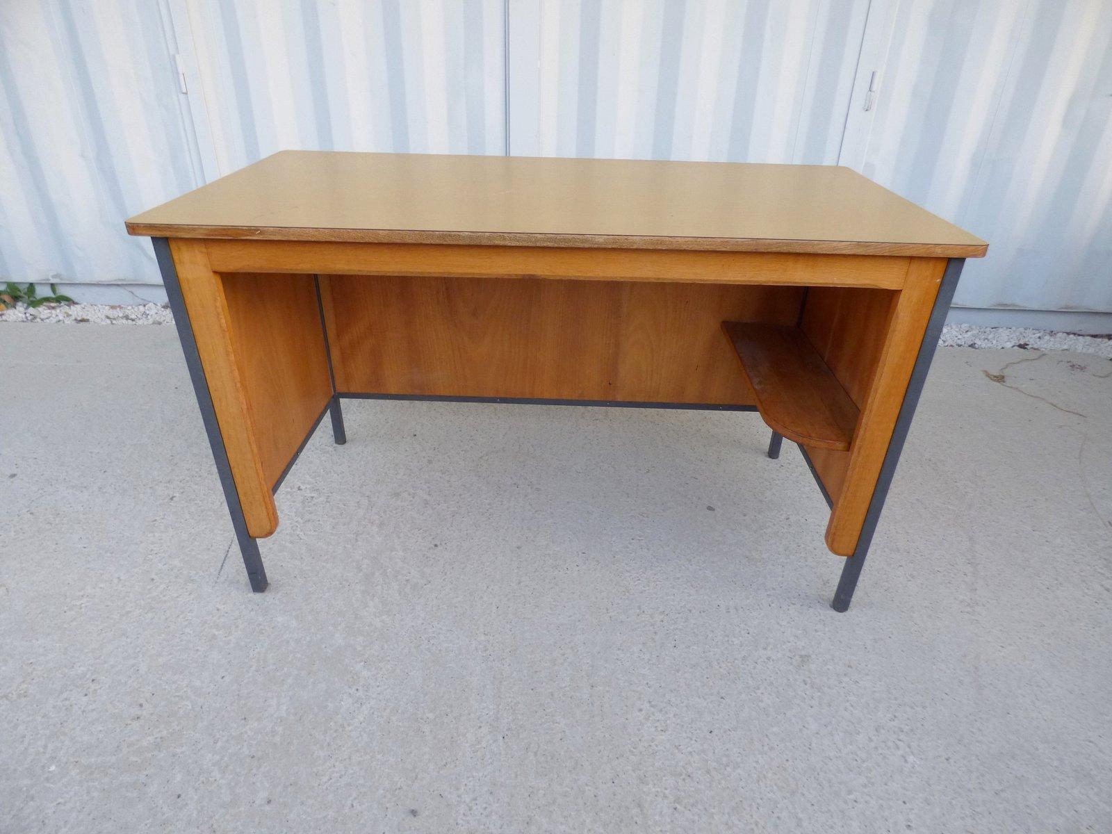 brauner vintage b ro schreibtisch 1950er bei pamono kaufen. Black Bedroom Furniture Sets. Home Design Ideas