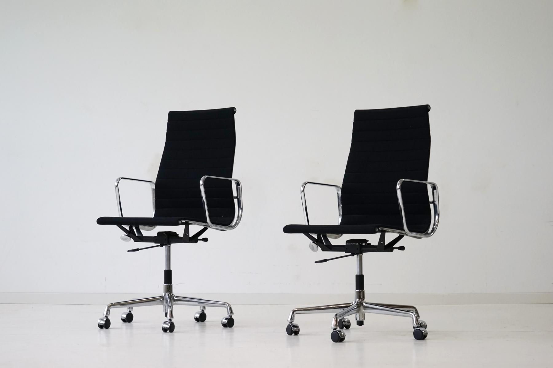 mid century ea 119 aluminum office chairs by charles ray. Black Bedroom Furniture Sets. Home Design Ideas