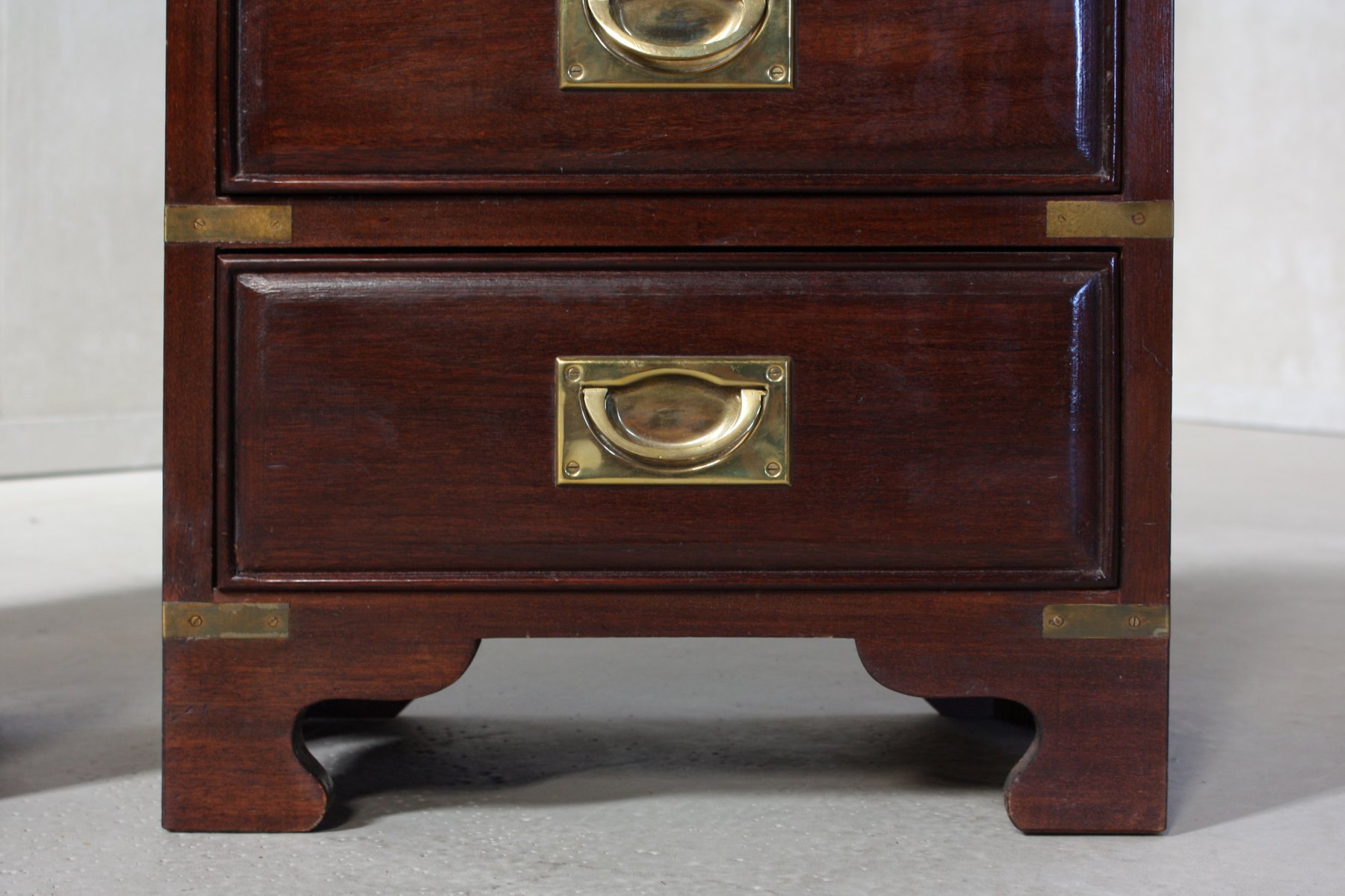Vintage Campaign Chest of Drawers 1970s Set of 2 for sale at Pamono