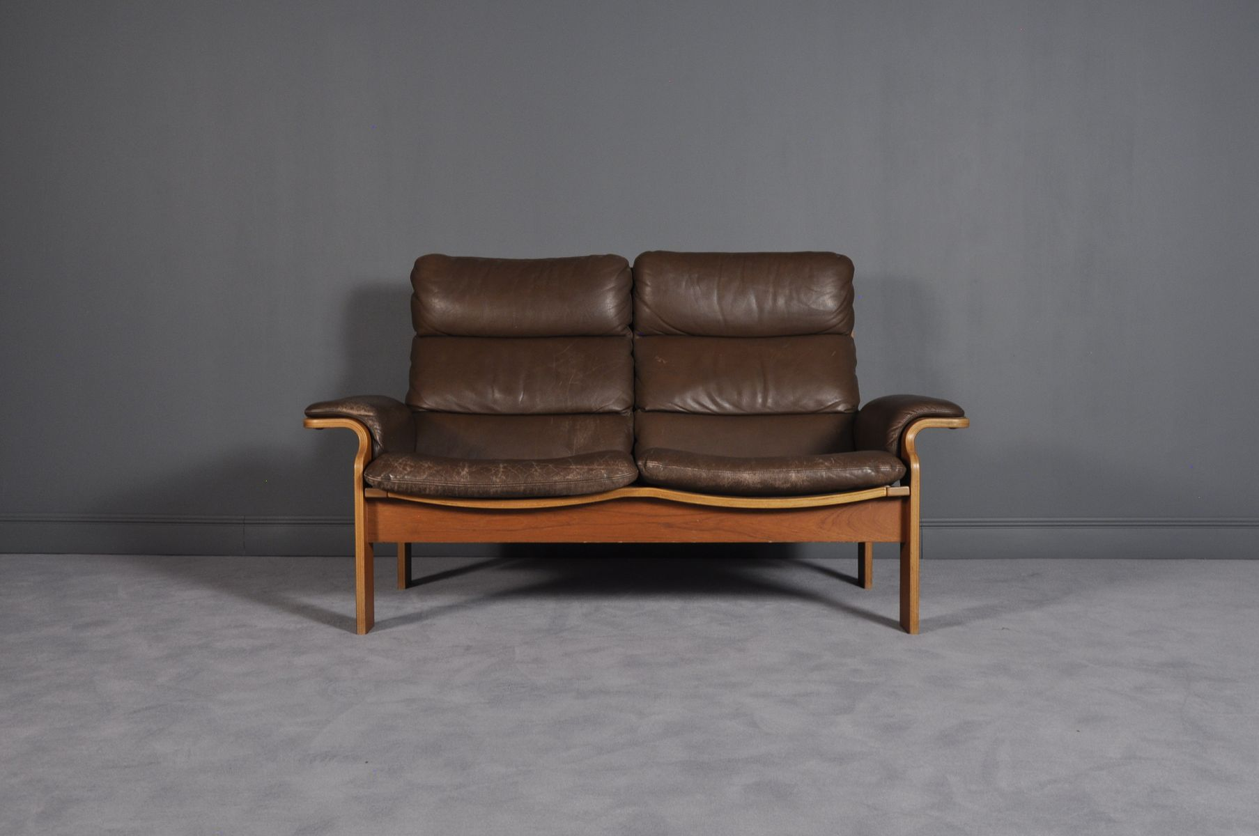 Norwegian Bentwood Leather Loveseat 1960s For Sale At Pamono