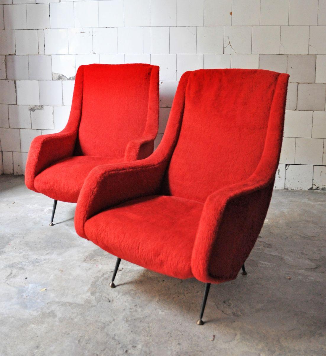 mid century sessel mit holzgestellen 2er set bei pamono. Black Bedroom Furniture Sets. Home Design Ideas