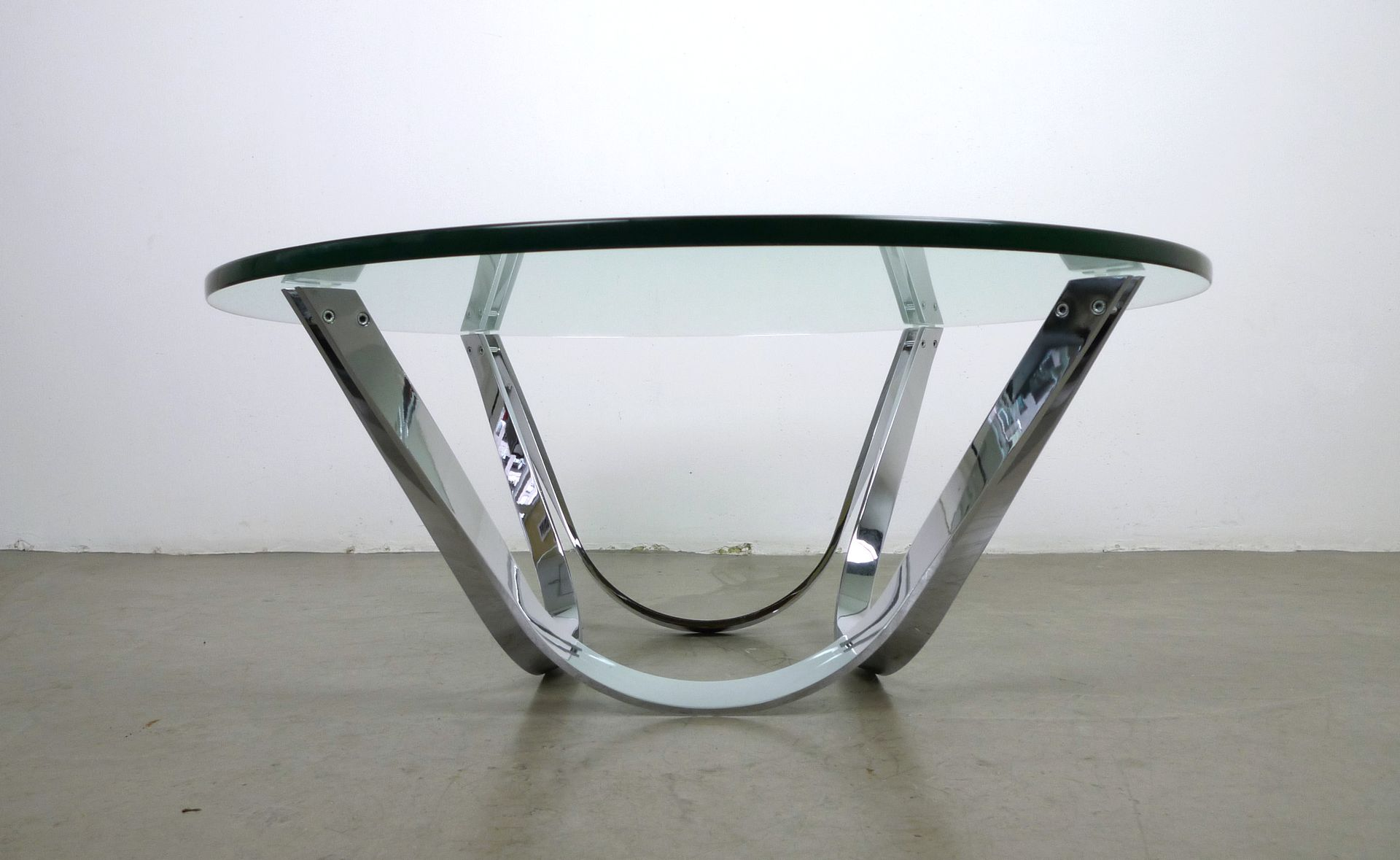 Glass Coffee Table by Roger Sprunger for Dunbar 1970s for sale at