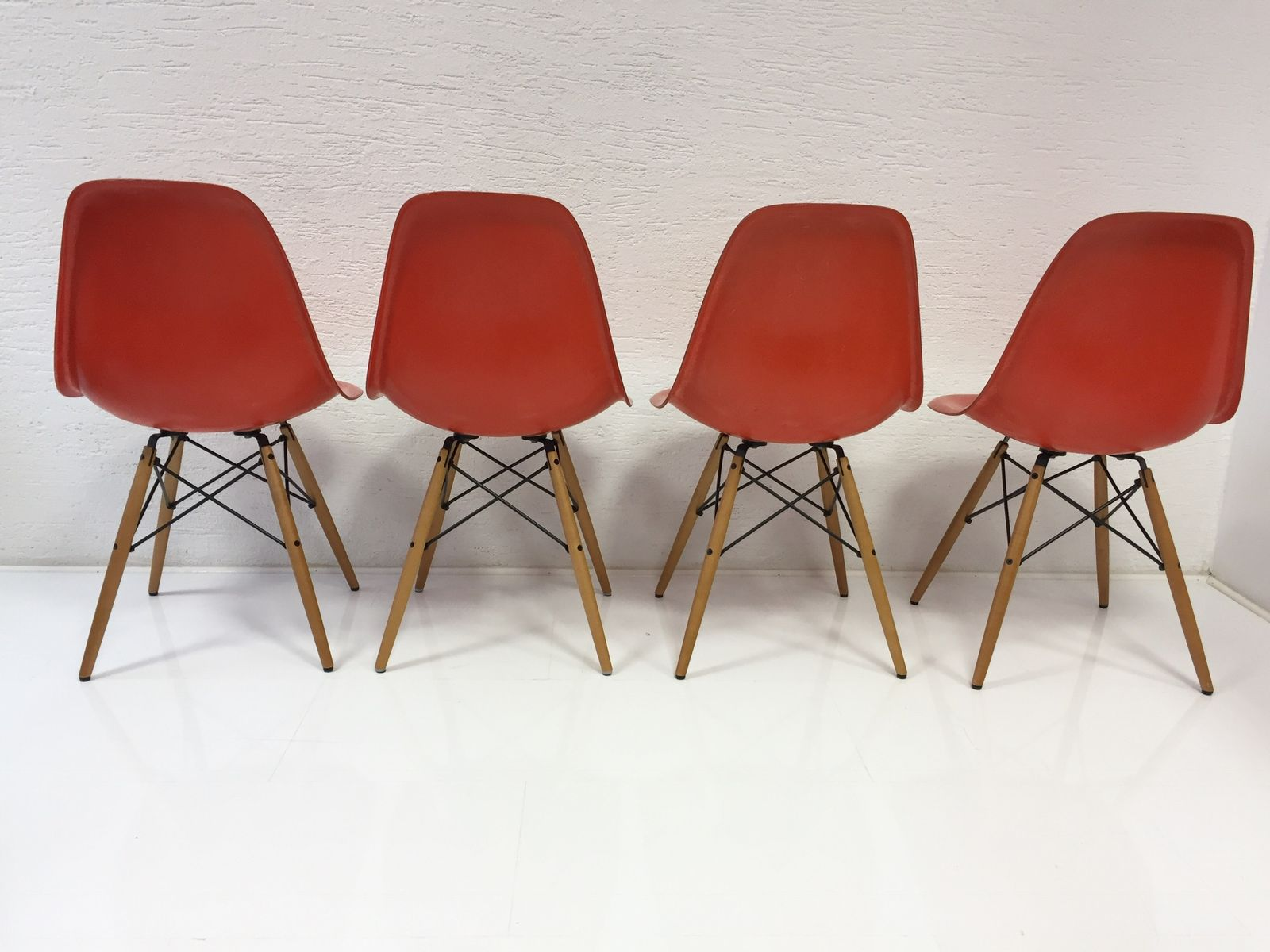 Mid Century Fiberglass Side Chairs by Charles & Ray Eames for