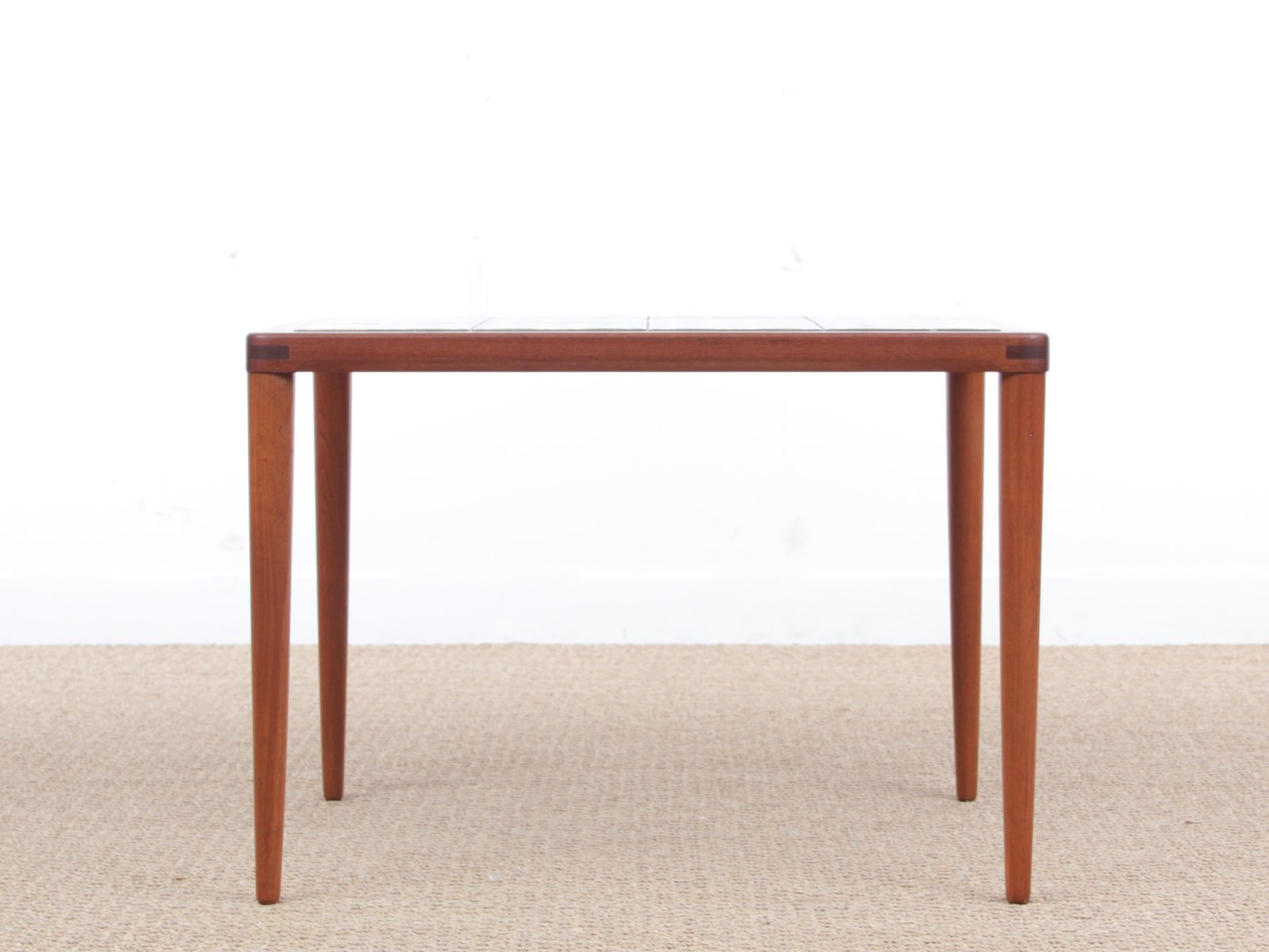 Mid century modern teak coffee table with ceramic tiles by h w klein for sale at pamono Modern teak coffee table