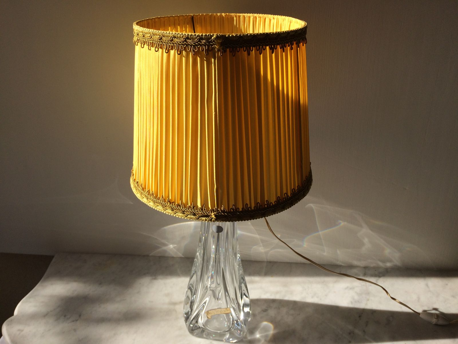 Beautiful Large Crystal Table Lamp, 1960s
