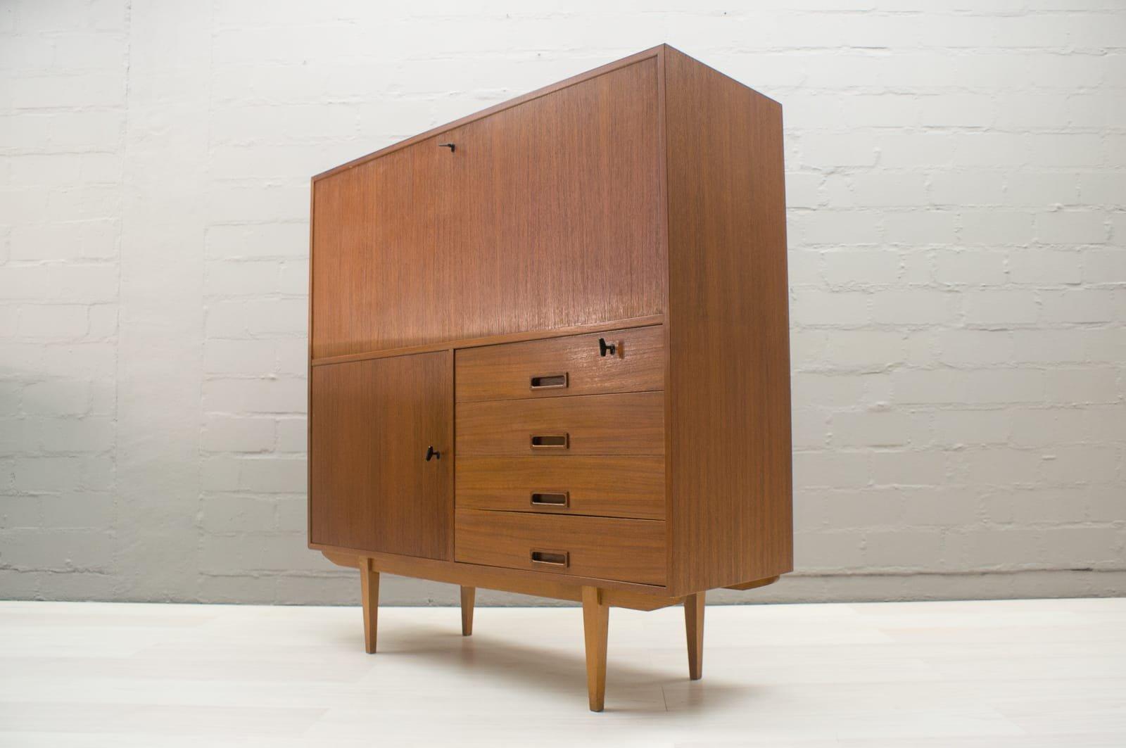 teak sekret r von deutsche werkst tten 1960er bei pamono. Black Bedroom Furniture Sets. Home Design Ideas