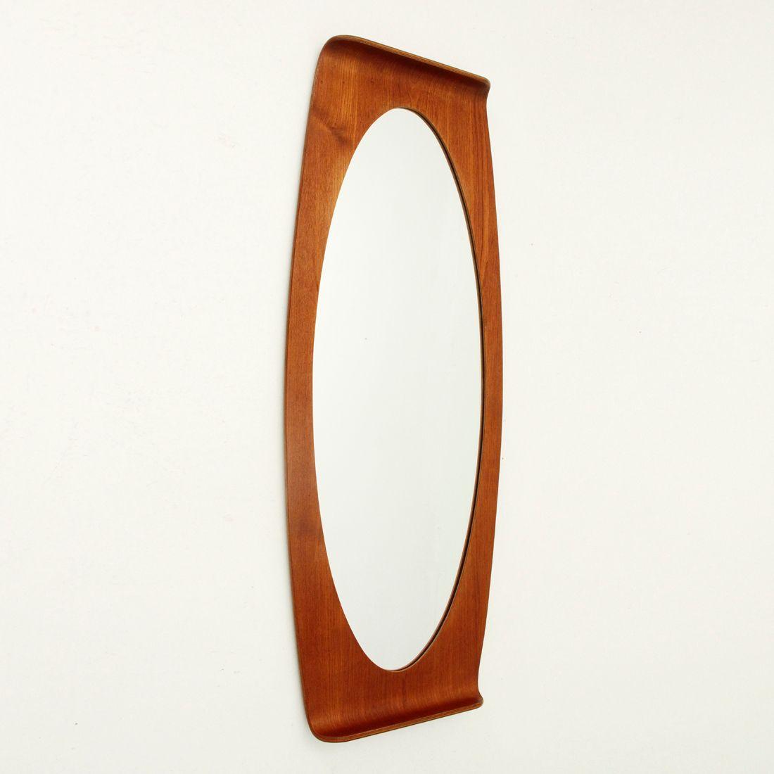 vintage spiegel mit geschwungenem rahmen von carlo graffi f r home bei pamono kaufen. Black Bedroom Furniture Sets. Home Design Ideas