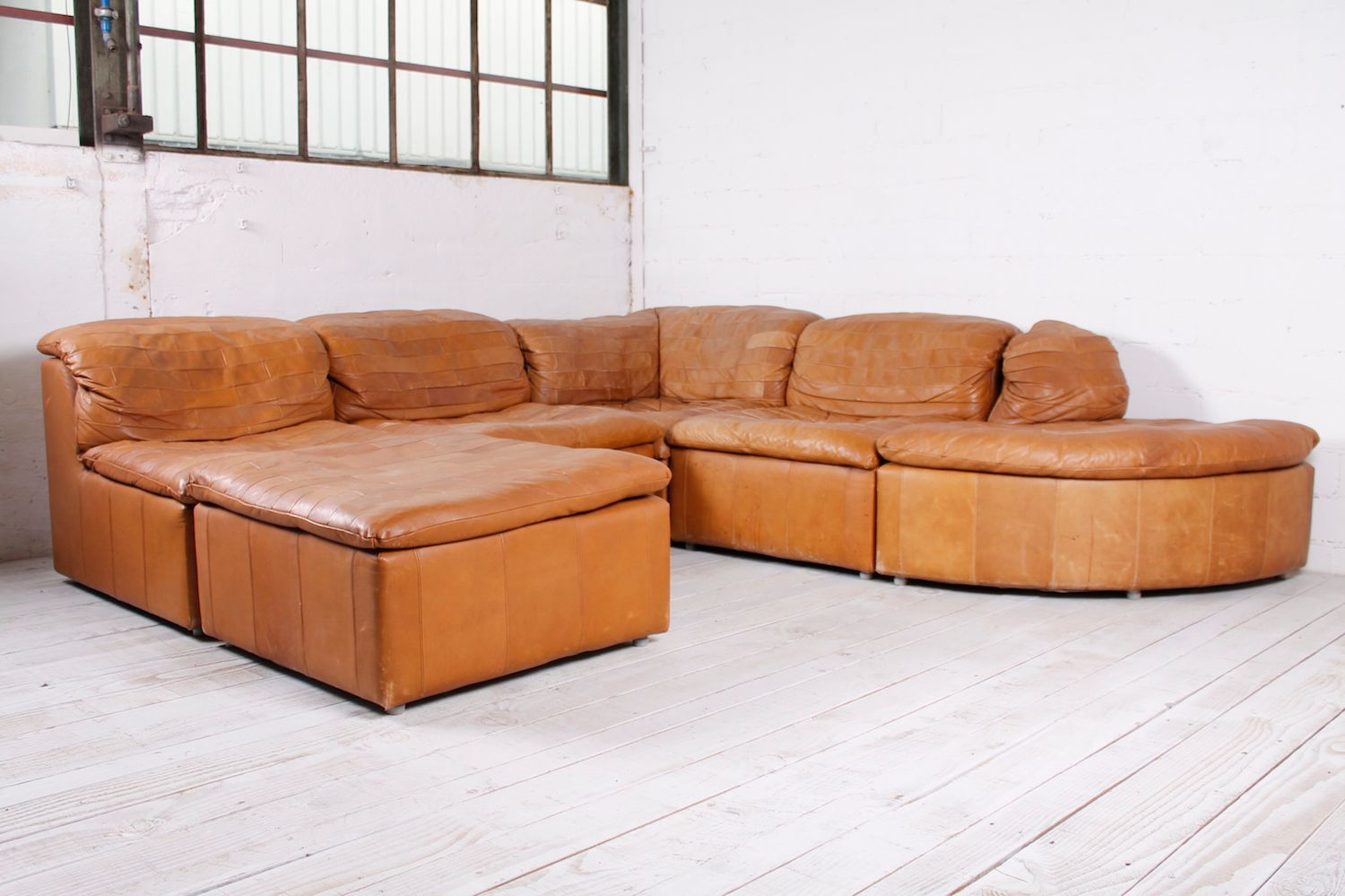 Modular patchwork sofa in leather 1970s for sale at pamono modular patchwork sofa in leather 1970s parisarafo Image collections