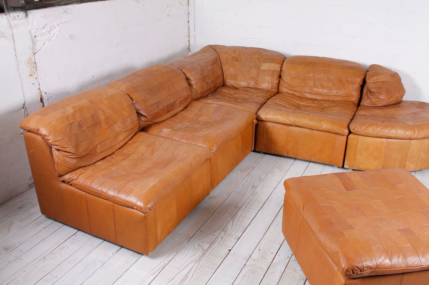 Modular Patchwork Sofa In Leather 1970s For Sale At Pamono
