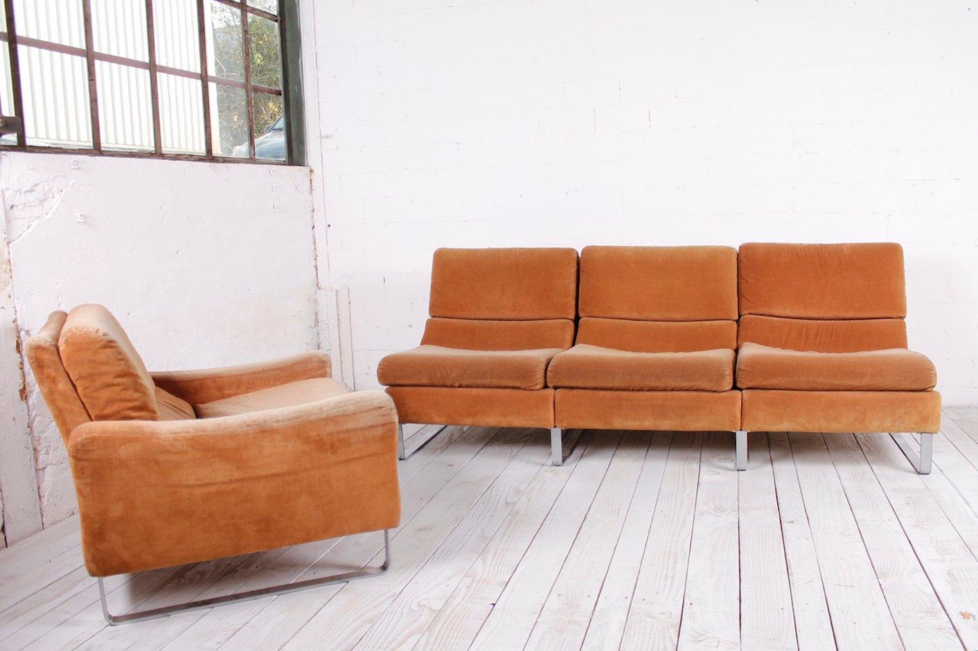 modulares 4 sitzer sofa 1960er bei pamono kaufen. Black Bedroom Furniture Sets. Home Design Ideas