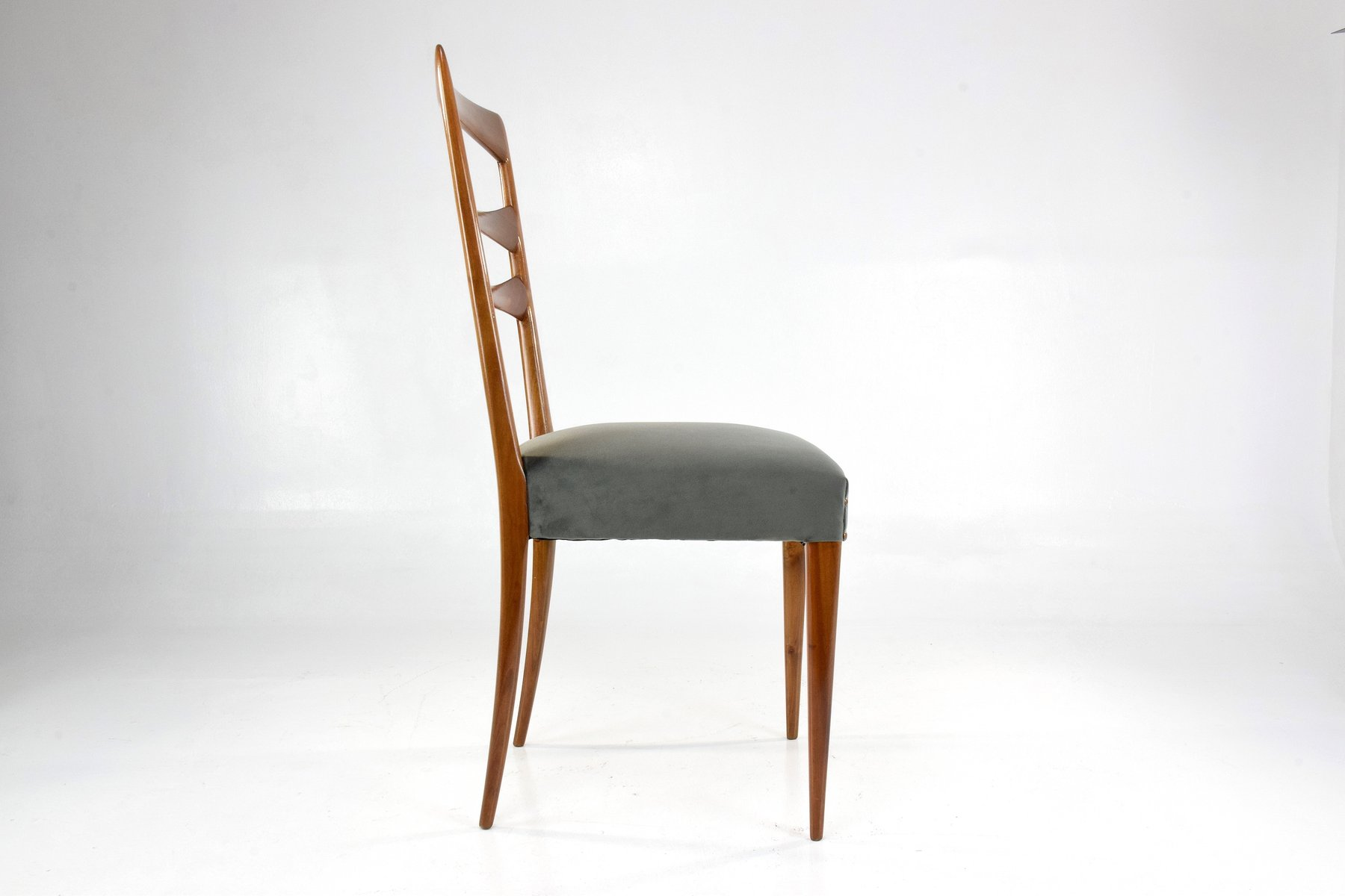 Italian velvet dining chairs 1950s set of 6 for sale at for Set of 6 dining chairs