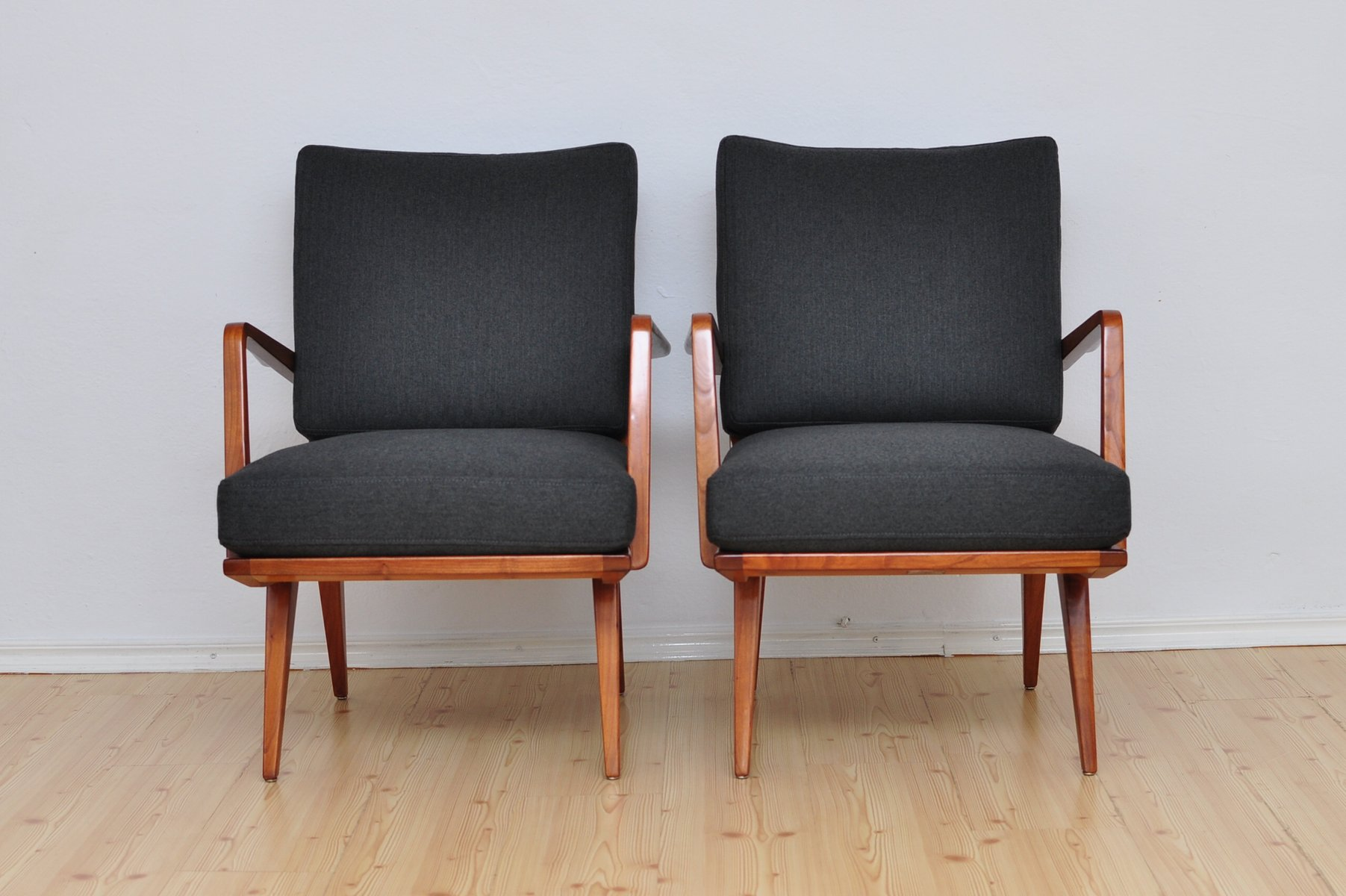 sessel von walter knoll wilhelm knoll 1950er 2er set. Black Bedroom Furniture Sets. Home Design Ideas