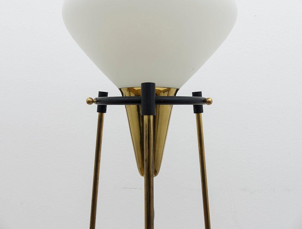 Tripod brass floor lamp from stilnovo 1950s for sale at for Brass tripod floor lamp uk