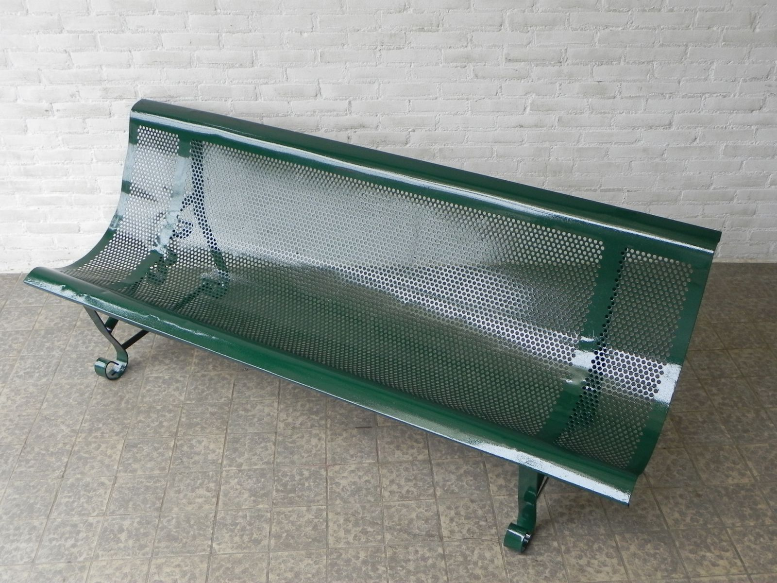 Mid Century French Steel Garden Bench For Sale At Pamono