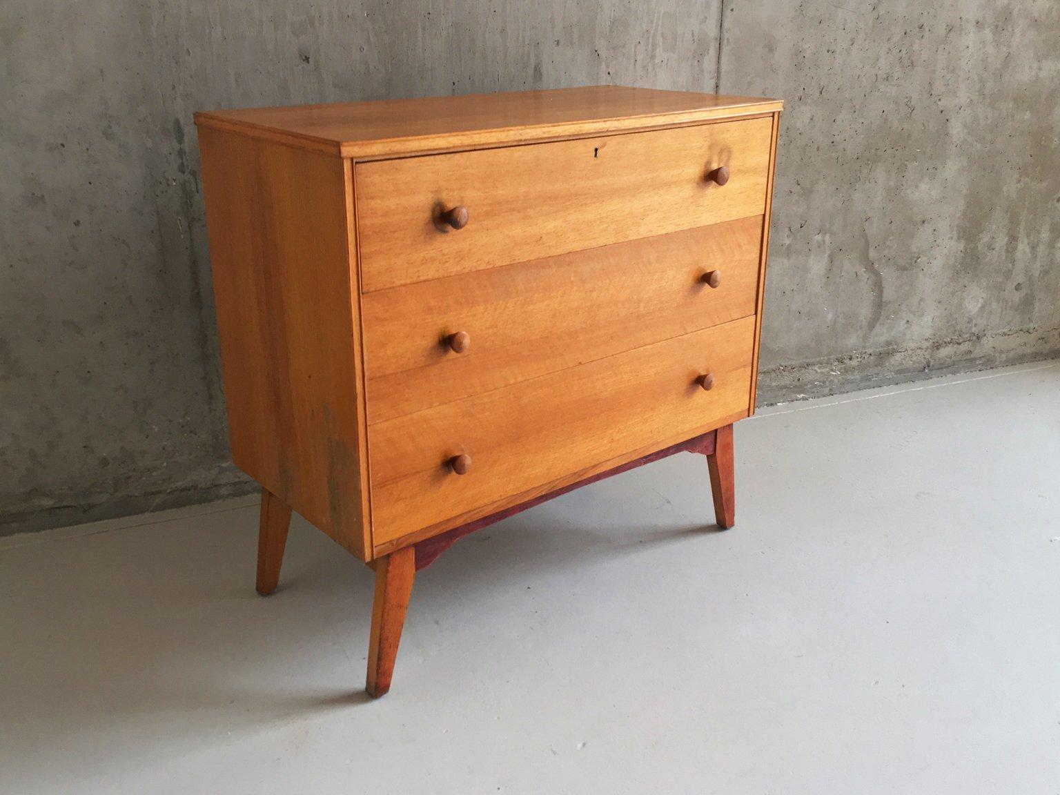 englische kommode mit ausziehbarer tischplatte 1960er bei pamono kaufen. Black Bedroom Furniture Sets. Home Design Ideas