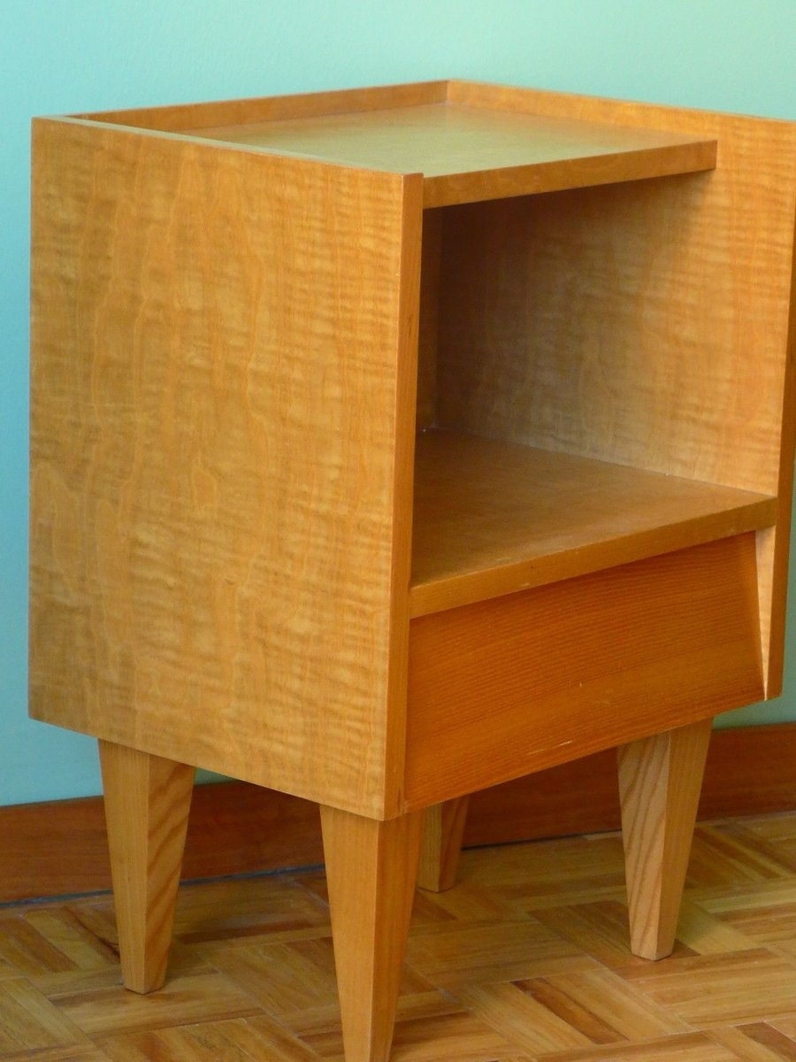 Small bedside table 1950s for sale at pamono for Tiny bedside table