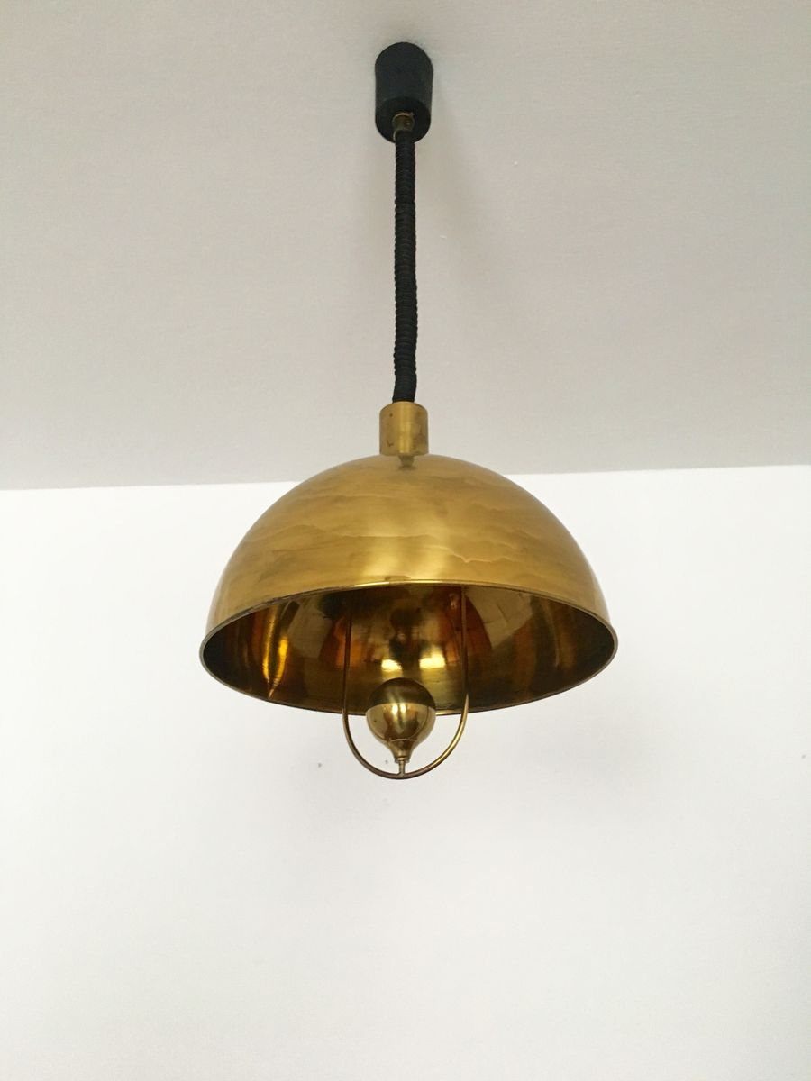 brass pendant lamp by florian schulz 1960s for sale at pamono. Black Bedroom Furniture Sets. Home Design Ideas
