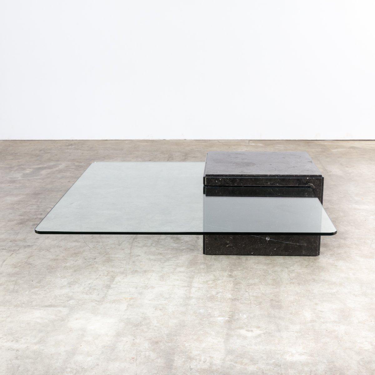 couchtisch aus glas granit 1970er bei pamono kaufen. Black Bedroom Furniture Sets. Home Design Ideas