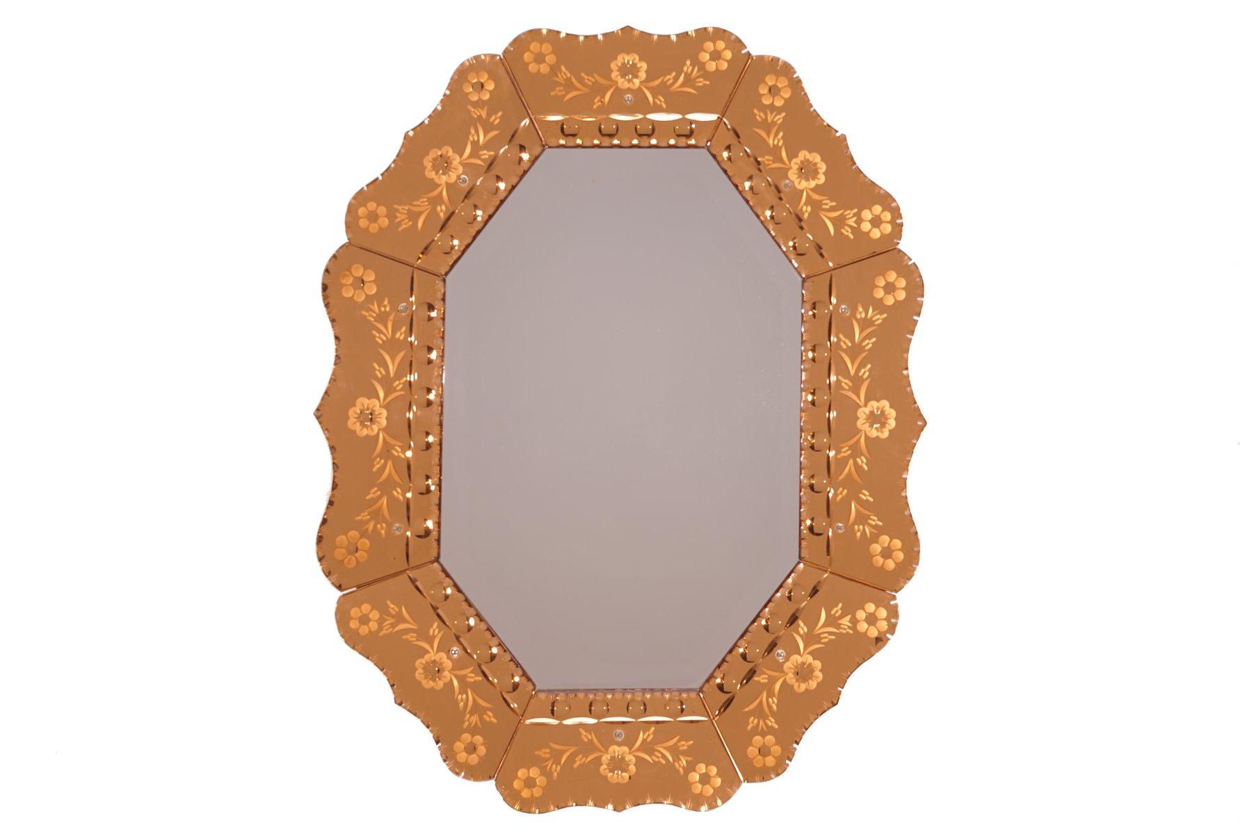 Venetian Art Deco Mirror 1930s For Sale At Pamono