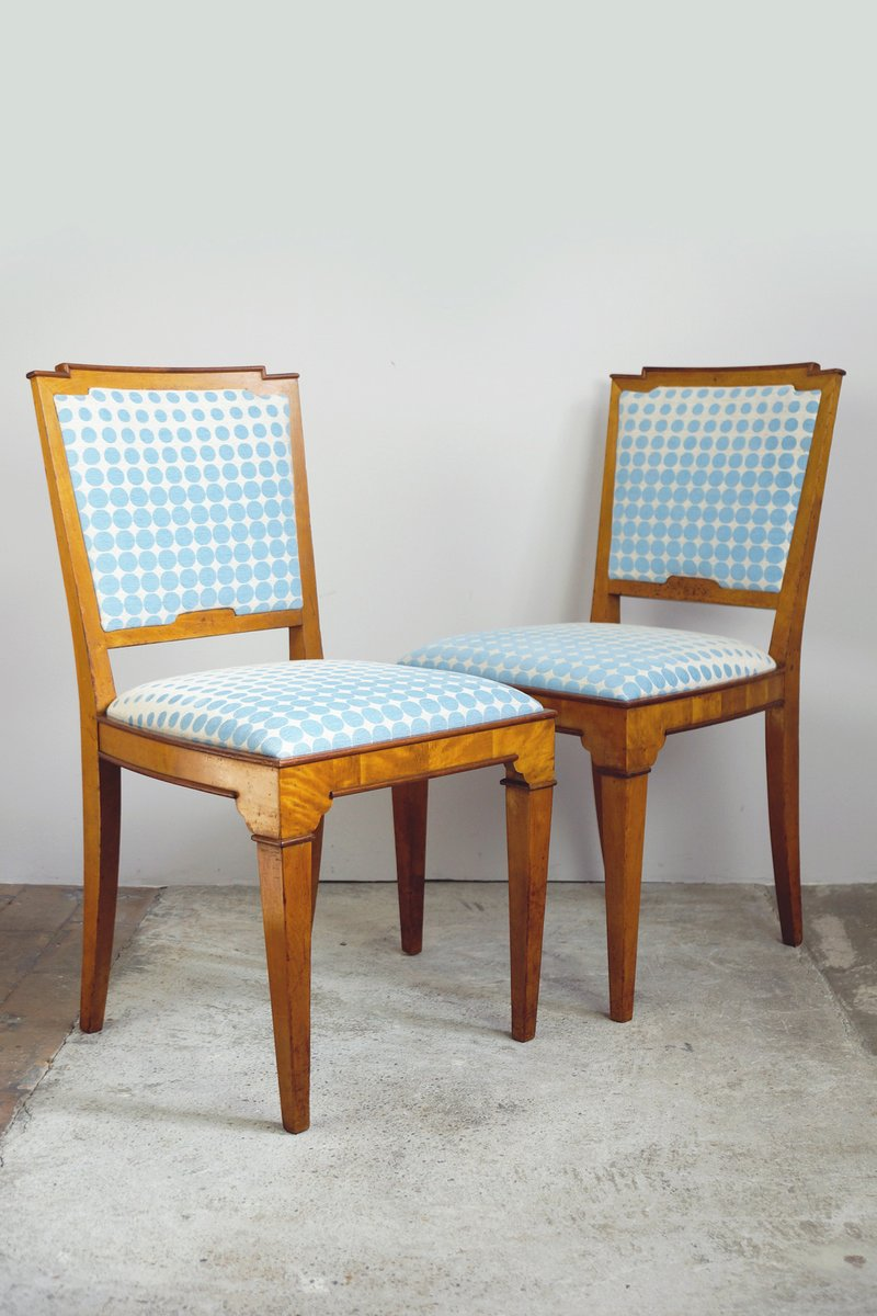 Vintage dining room chairs 1920s set of 2 for sale at pamono - Retro dining room chairs ...