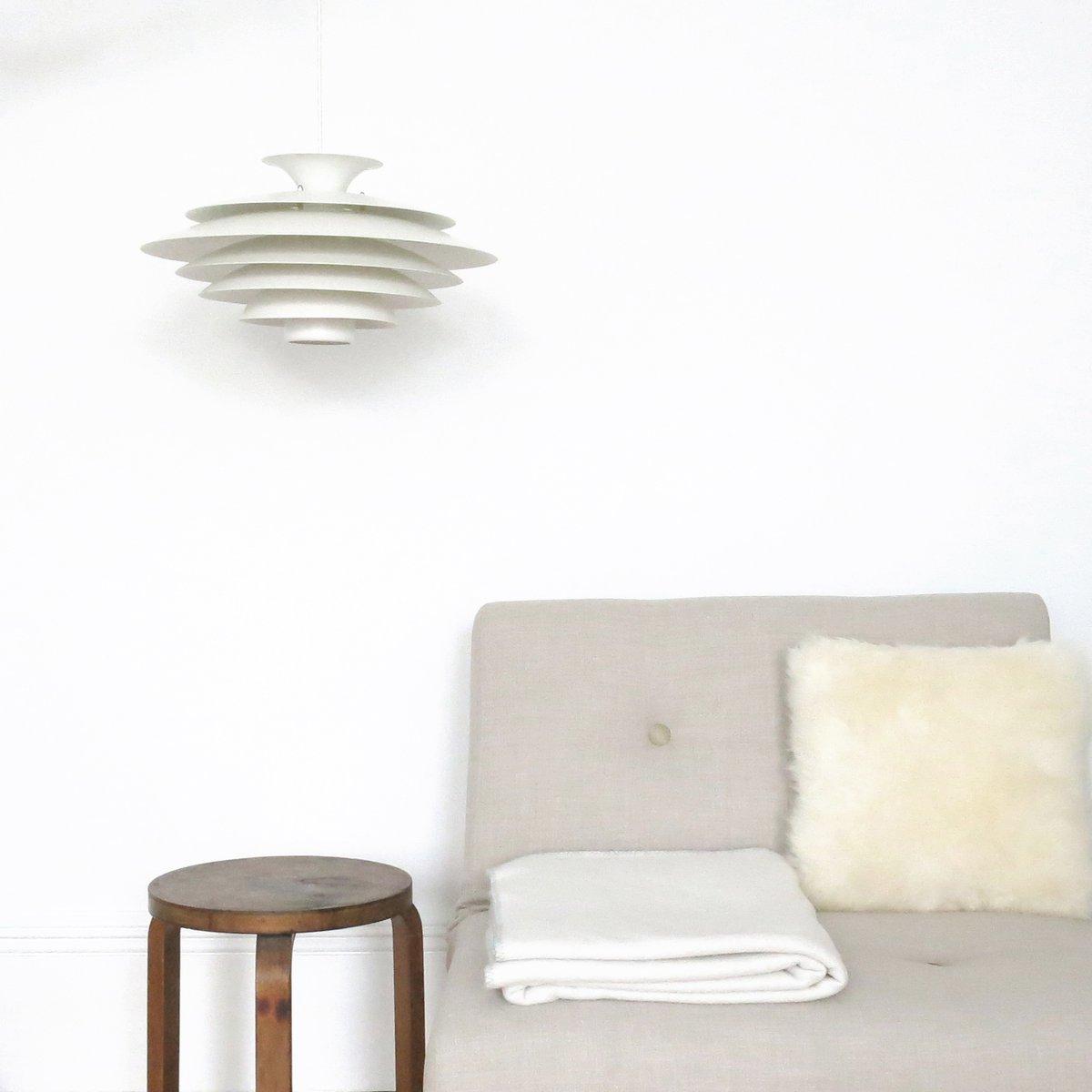 gestufte danish modern h ngelampe von formlight 1960er. Black Bedroom Furniture Sets. Home Design Ideas