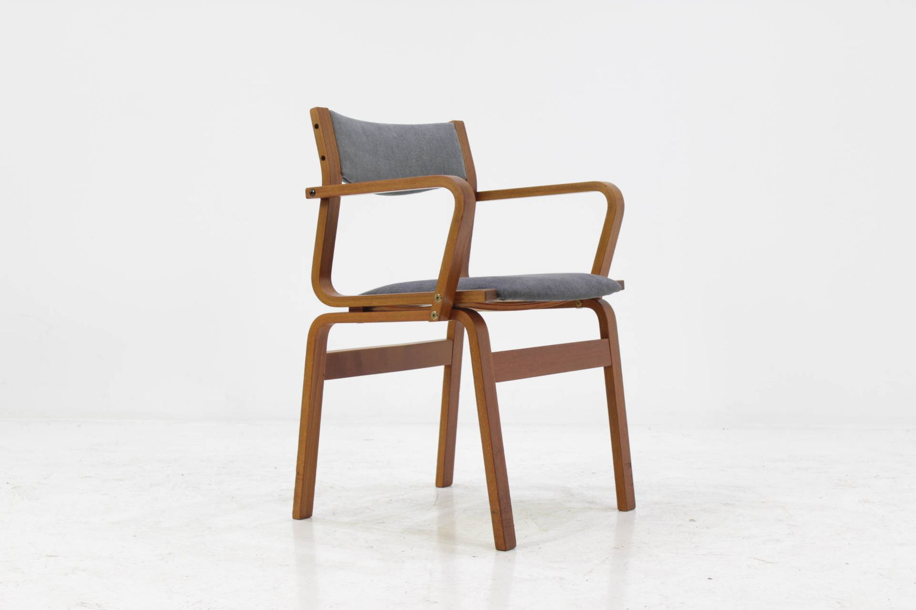 Vintage Danish Bentwood Chairs in Teak Set of 6 for sale at Pamono