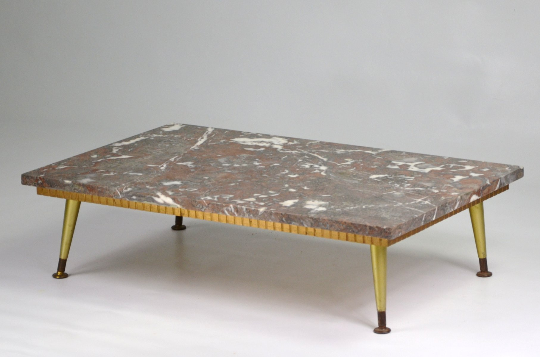 Coffee table with marble top 1950s for sale at pamono for Marble table tops for sale