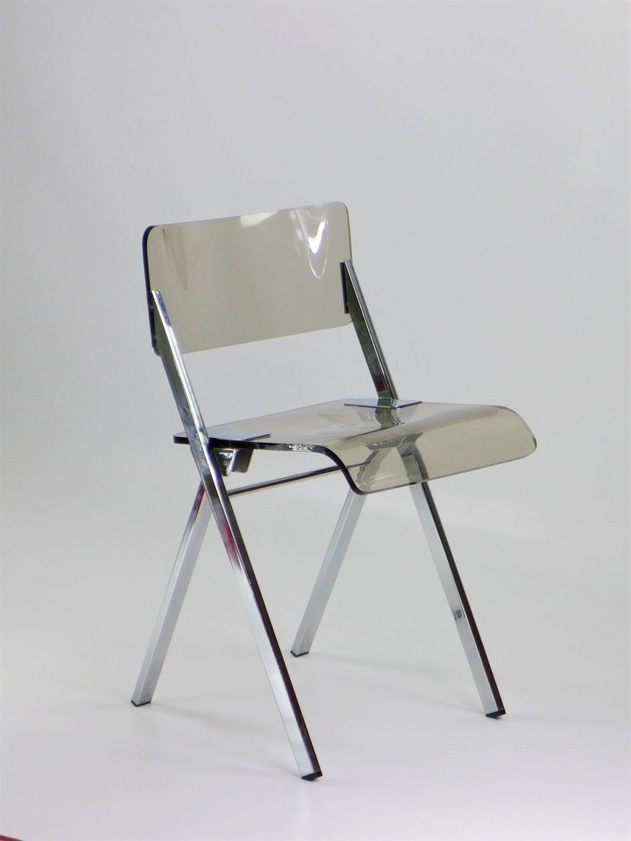 Foldable Chair In Plexiglass, 1970s